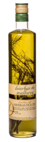 Dos Perellons Hierbas Dulces mit Zweig